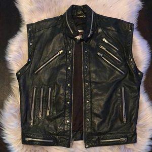 100% Vintage Leather Vest